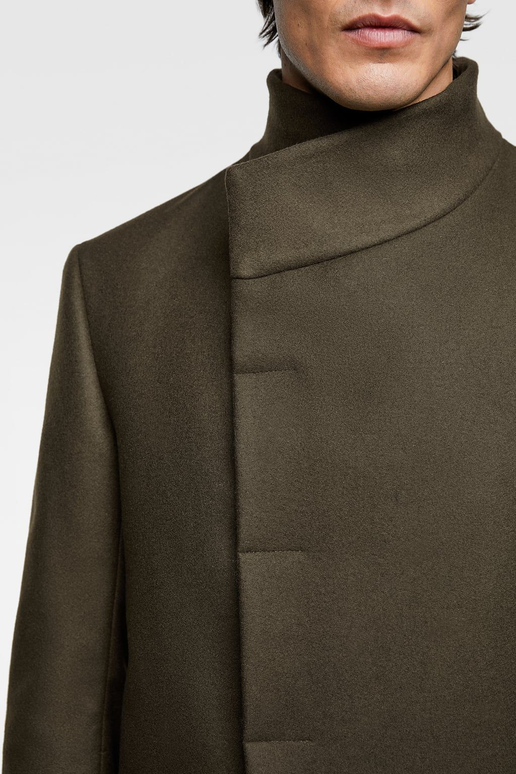 48ddc342 Image 5 of ASYMMETRICAL COLLAR COAT from Zara | Fall Jackets | Coat ...