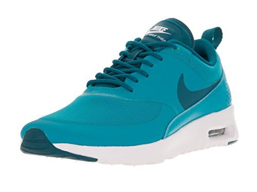 Nike Women's Air Max Thea Lagoon, Green Abyss, and White Leather and  Synthetic Running Shoes