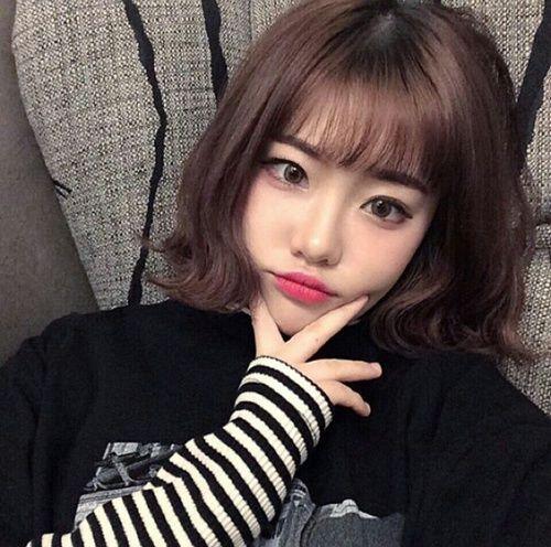Girl Ulzzang And Aesthetic Image Ulzzang Short Hair Korean Short Hair Cute Korean Girl