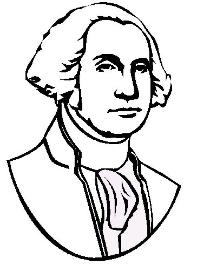 Coloring Sheets George Washington Pictures Coloring Pages George Washington Cartoon