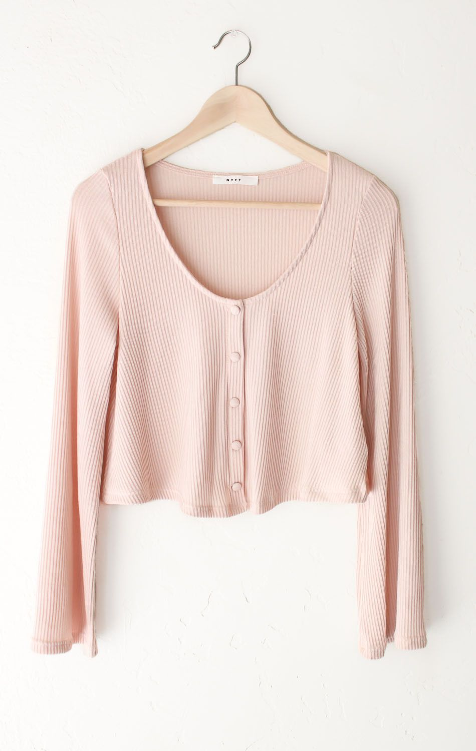 Ribbed Knit Crop Sweater - Pink | Rib knit, Clothes and Pink pink pink