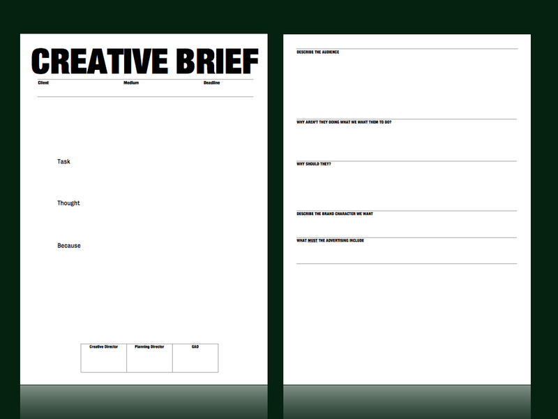Creative brief template from m c saatchi strategy for Agency pitch template