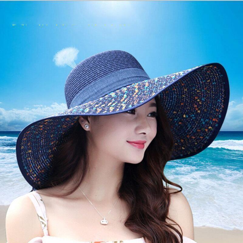 wide brim summer hat ladies summer hat UK summer hat for women blue straw hat elegant straw hat for women blue sun hat