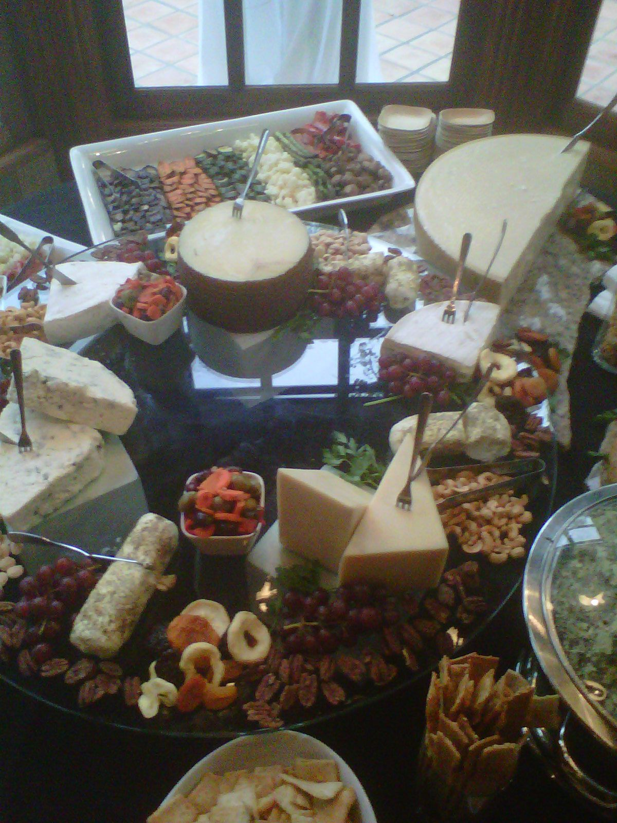 Cheese display i put together at wedding in anaheim hills
