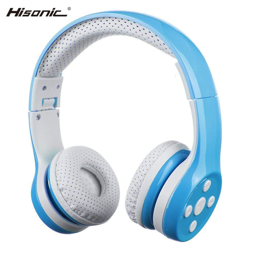 Hisonic Kids Wireless Headphone Handsfree Noise Cancelling Protect The Ear Foldable Wire Control Boy Girl Wi Headphones Bluetooth Headphones Wireless Headphone