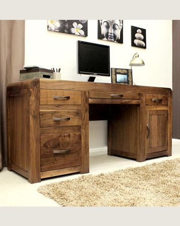 This Superb Large Home Office Desk Has Twin Pedestals And All The