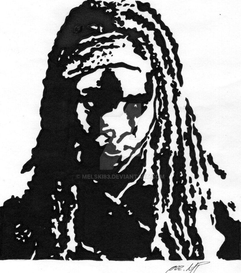 Danai Gurira as Michonne by Melski83 on DeviantArt