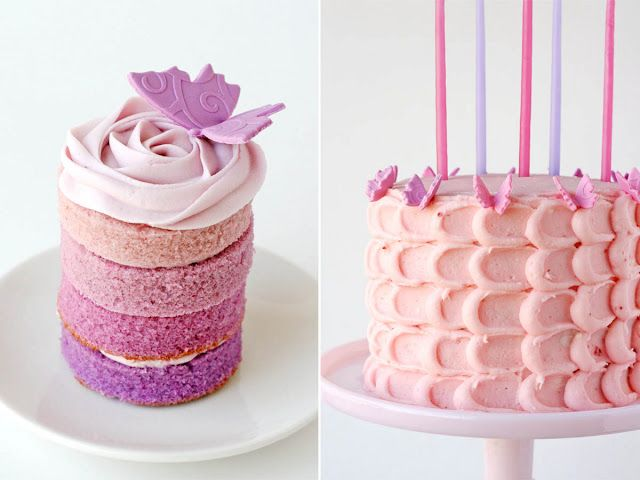 Kaitlynn wants a pink birthday. I found some cute pink plates with butterflies...now I need a pink cake! This is cute.