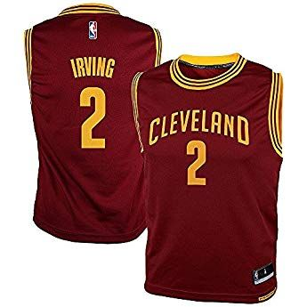 78a3969f2 Kyrie Irving Cleveland Cavaliers Red NBA Kids Revolution 30 Replica Jersey ( Kids 7)