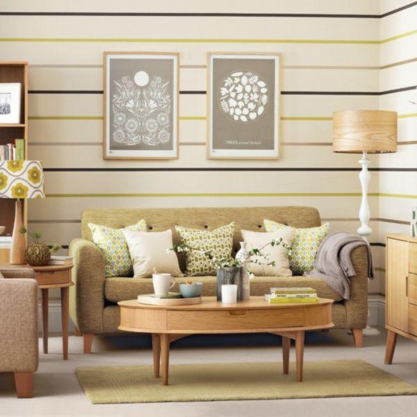 28 gemütliche Wohnzimmer Wohnideen mit Deko in kräftigen Farben - wohnzimmer dekoration grau