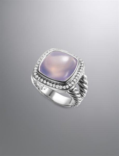 David Yurman, Albion Ring, Lavender Moon Quartz, 14mm