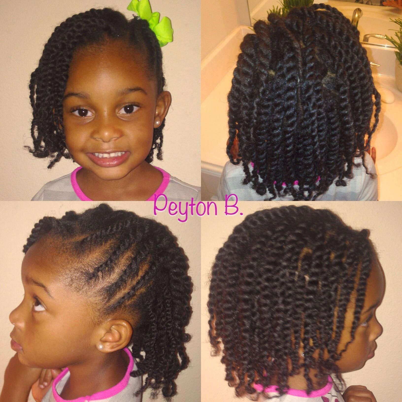 Two Strand Twist With Side Flat Twist Natural Hairstyle