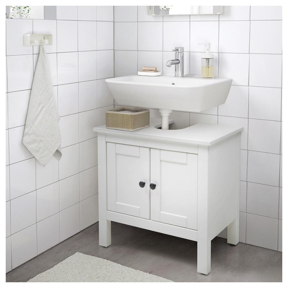 HEMNES Waschbeckenunterschrank, 2 Türen, weiß, 60x38x63 cm ...