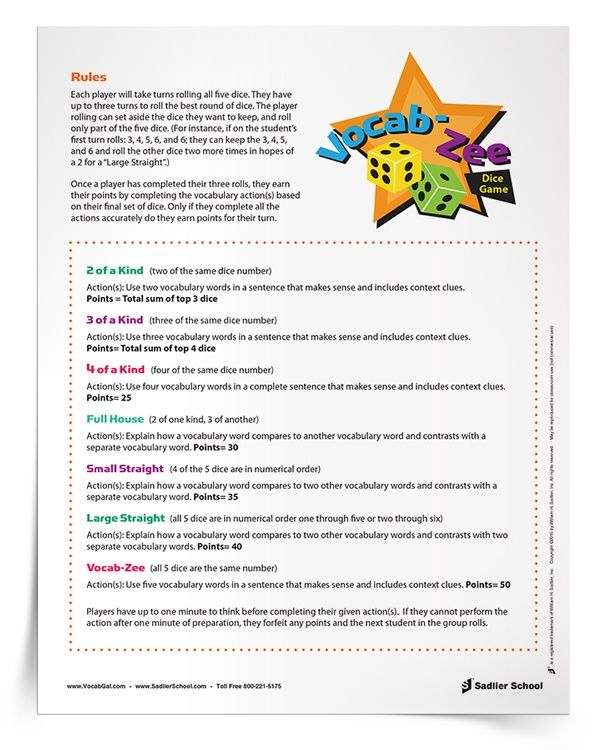 photo about Printable Vocabulary Activities titled 2 printable vocabulary online games for significant faculty that by yourself will