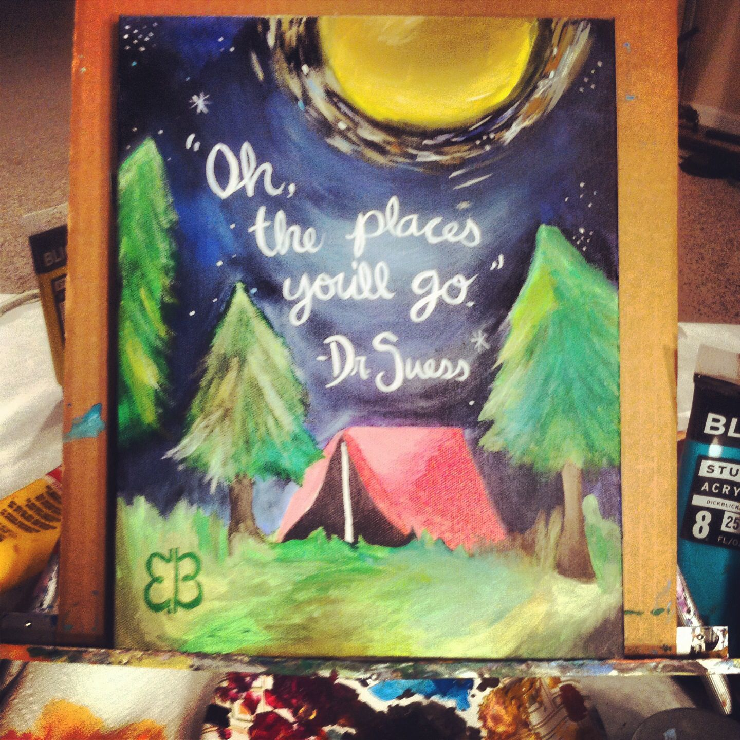 Camping Classroom Decorations ~ Painted this for a camping themed classroom inspiration