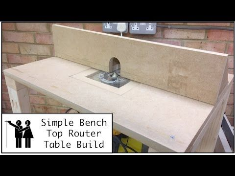 Bench top router table build youtube home projects pinterest bench top router table build youtube greentooth Gallery