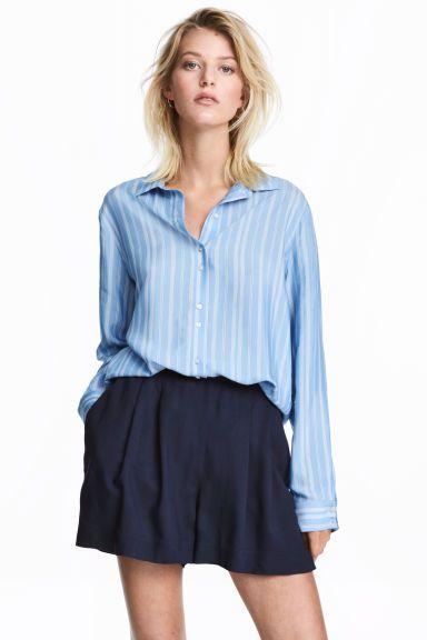 Koszula w paski - Jasnoniebieski/Biały - ONA | H&M PL 1