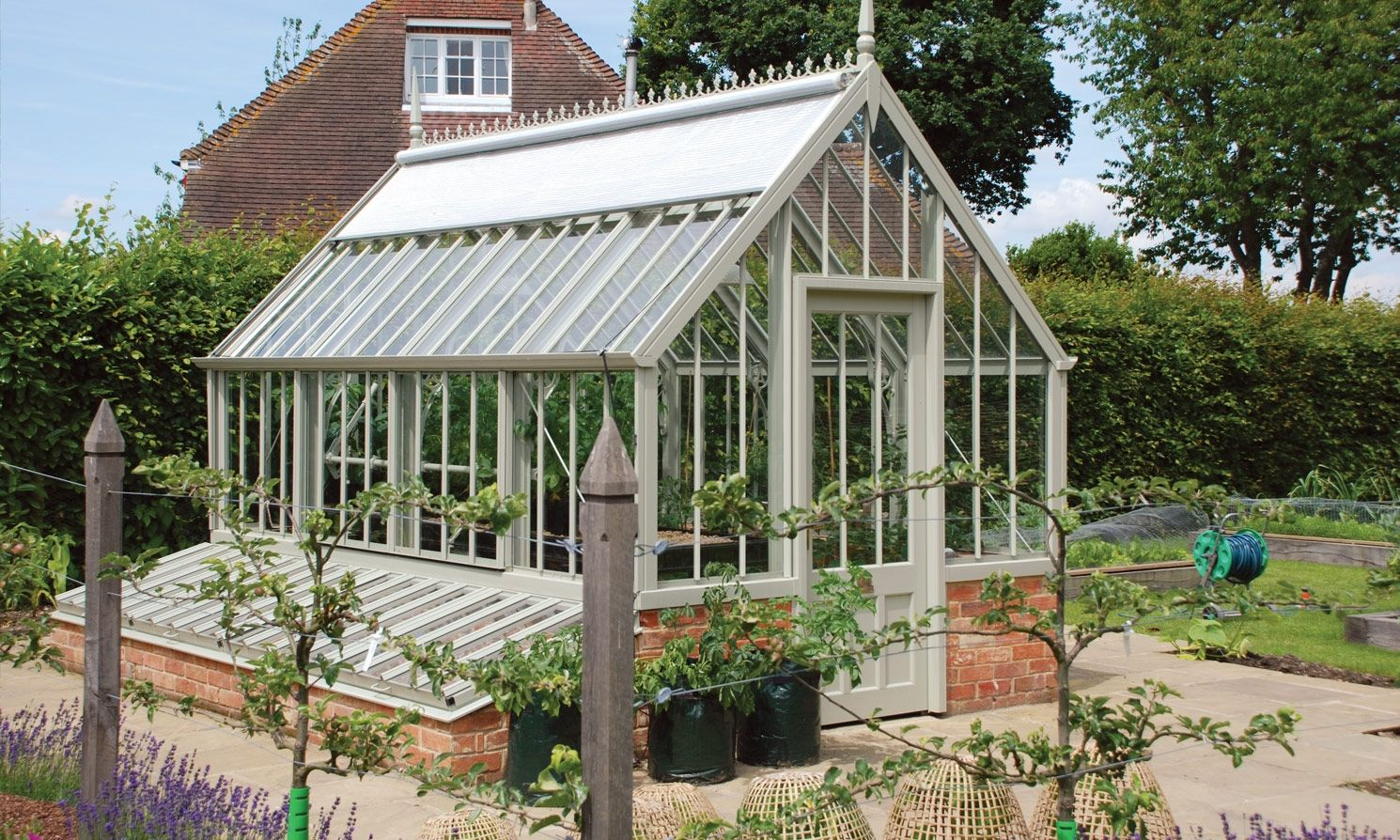 Alitex national trust victorian dwarf wall greenhouse for Victorian conservatory plans