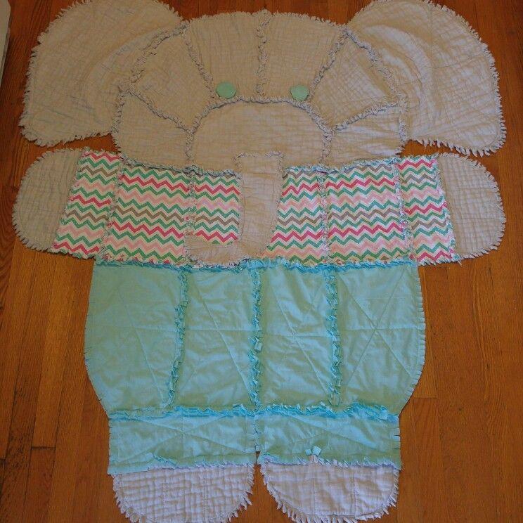 Elephant Rag Quilt Adapting A Simplicity Pattern Rag Quilt Patterns Baby Rag Quilts Elephant Quilts Pattern