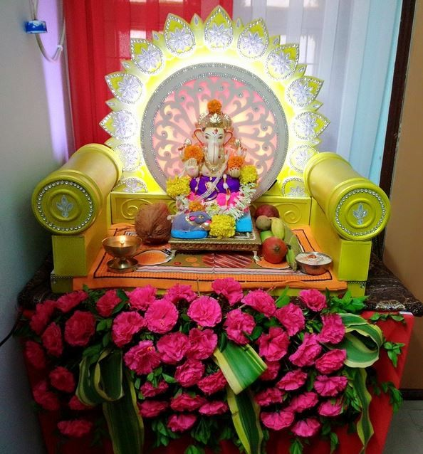 Homemade Ganpati Decoration Ideas | Puja and traditions ...