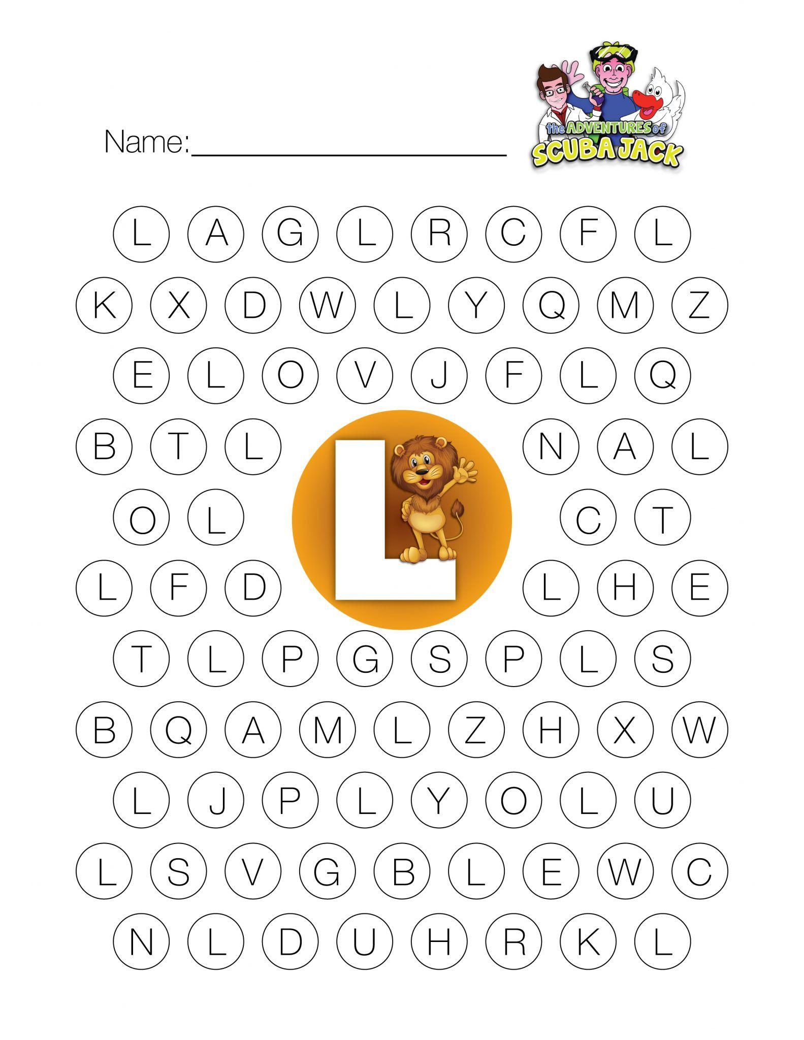 Free Preschool Kindergarten Worksheets Letters Alphabet