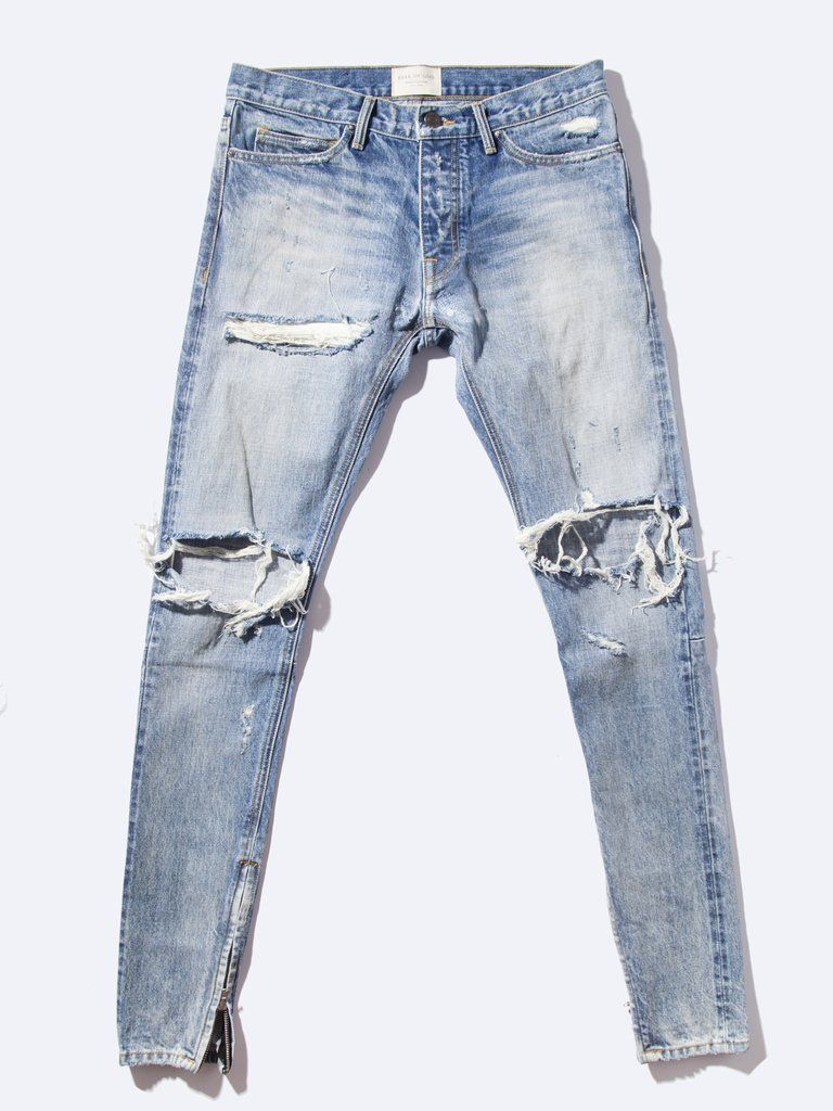Fear Of God Selvedge Denim Vintage Jean Mens Pants Fashion Denim Fashion Jeans Style