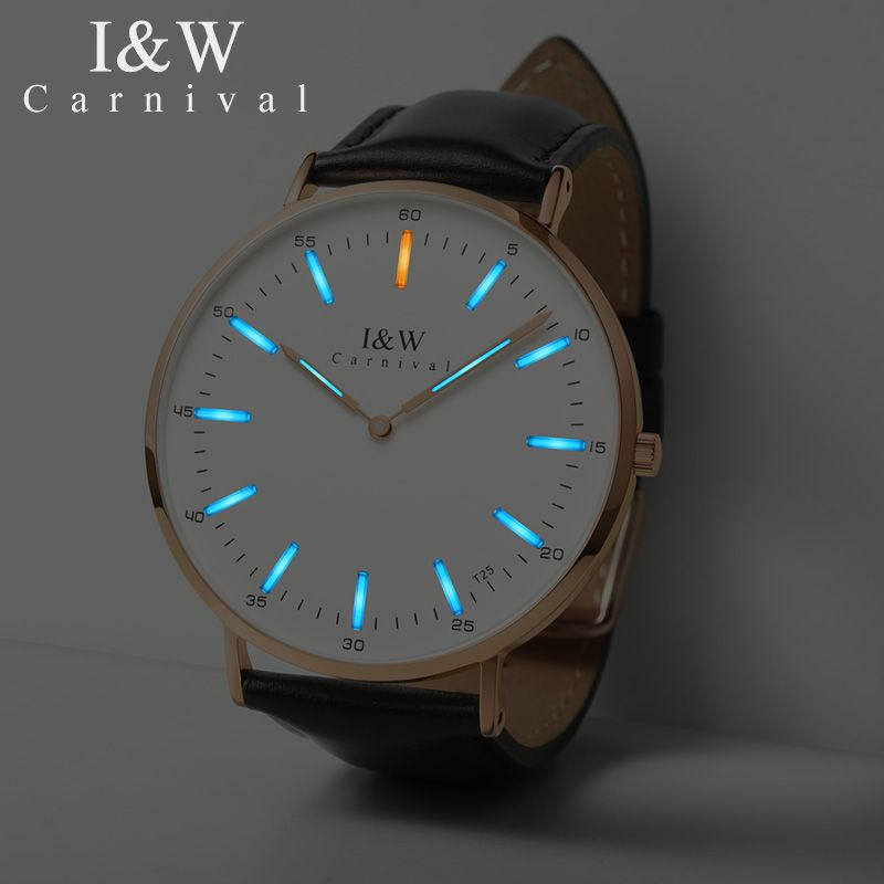 467a60a28e02 I W T25 Tritium Luminous Quartz Watch Men Carnival Ultra-Thin 6MM Mens  Watches Top Brand Luxury Wristwatch Man Clock kol saati Review