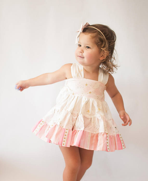Pink and Gold Mermaid Outfit - Baby Top - Mermaid Dress - Baby Mermaid Dress  - Pink and Gold Merm 001529f85