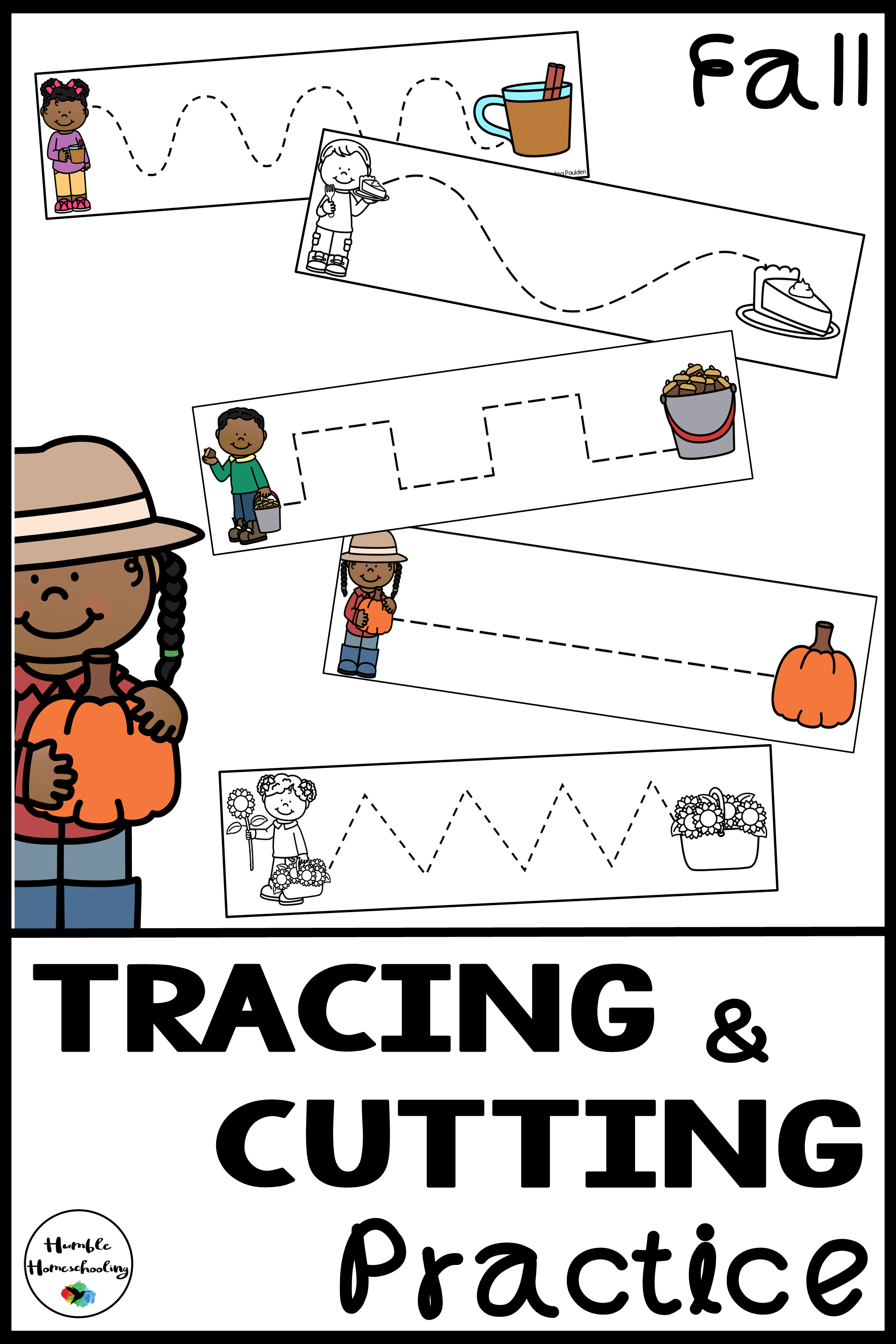 Tracing Skill Prewriting Practice Worksheets Fall