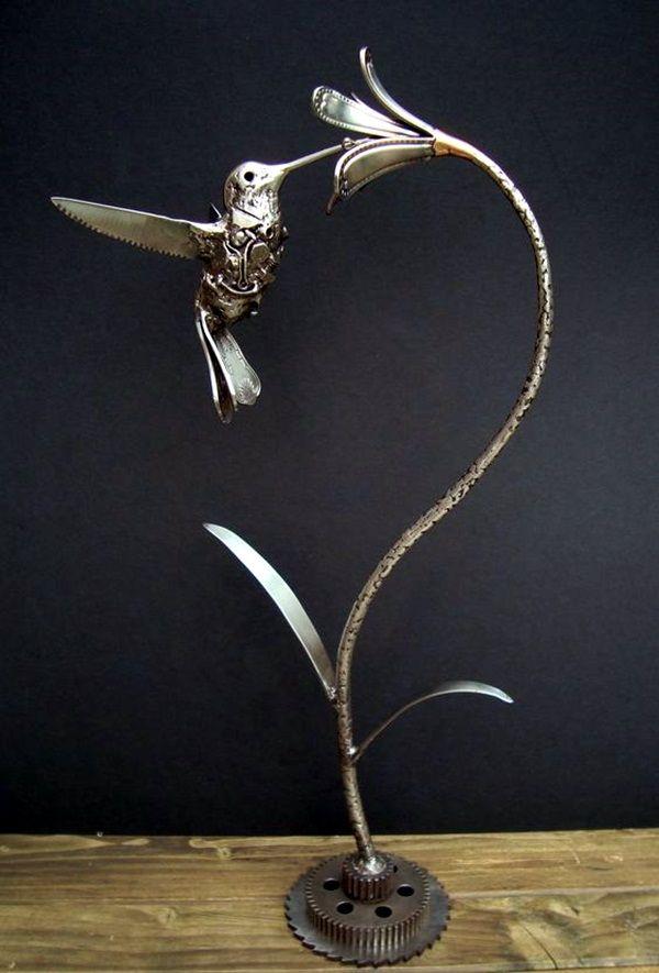 40 Mechanical Nuts And Bolts Art Ideas Scrap Metal Art Cutlery Art Metal Sculpture Artists