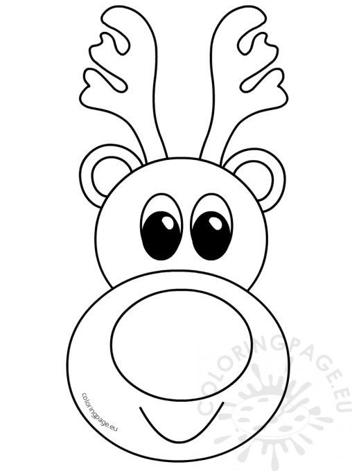 Image result for coloring book reindeer (With images