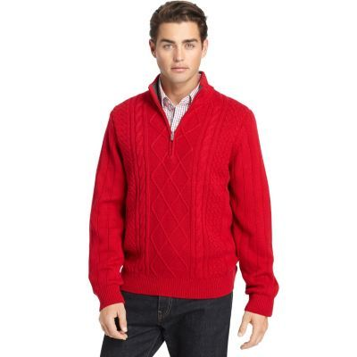 Big & Tall IZOD Cable-Knit Sweater $47.99 | Black Friday Men ...