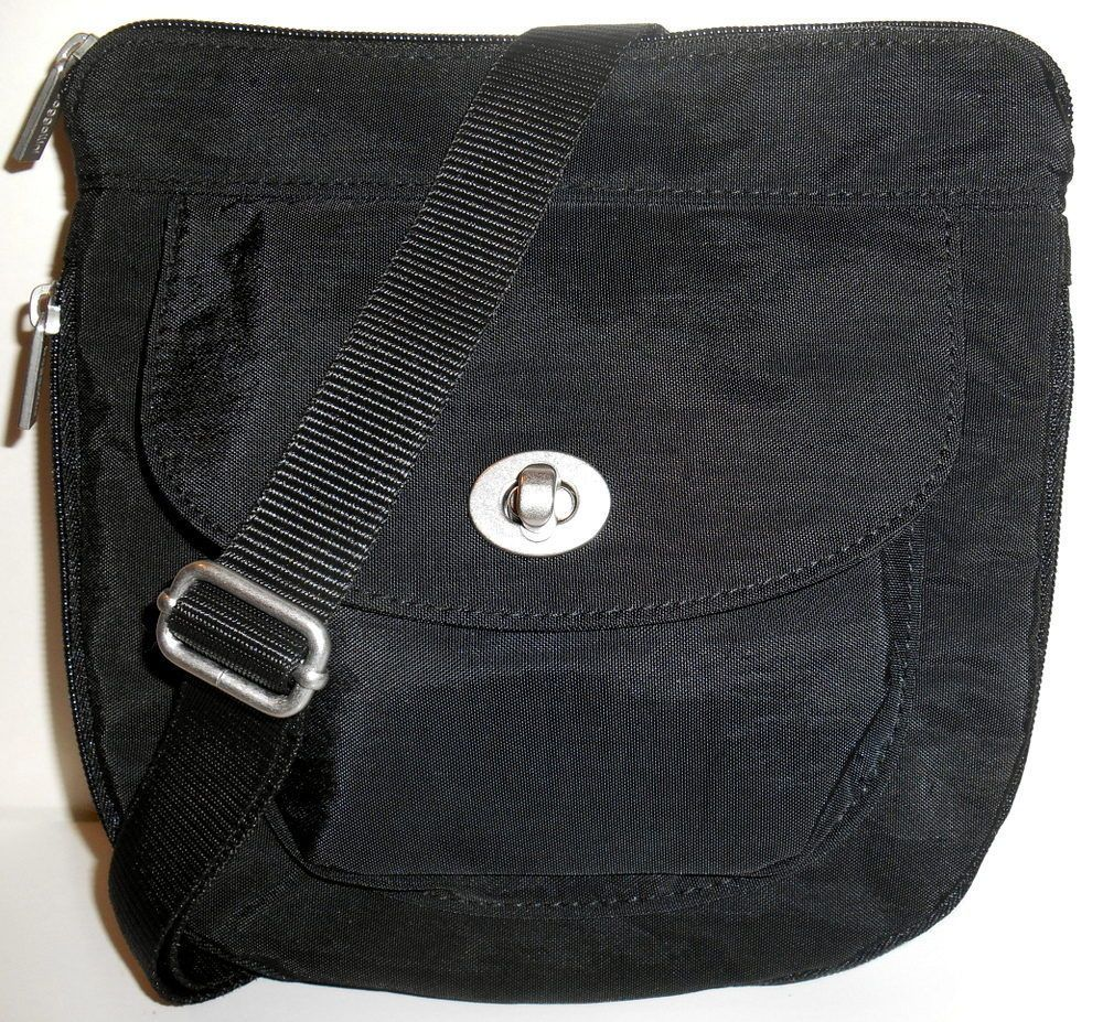 cff92daa1 BAGGALLINI AMSTERDAM Crossbody Shoulder Bag Black Expandable Organizer NEW  NWT #Baggallini #CrossBody