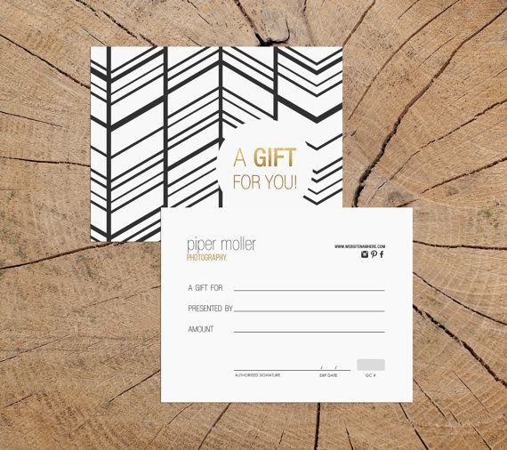 Elvira v2 double sided gift certificate template - Instant download ...