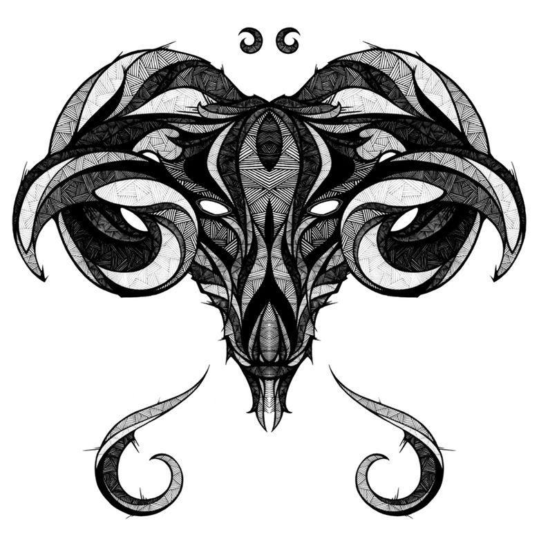 Signs of the Zodiac Aries Tatuaje de aries, Tatuaje de