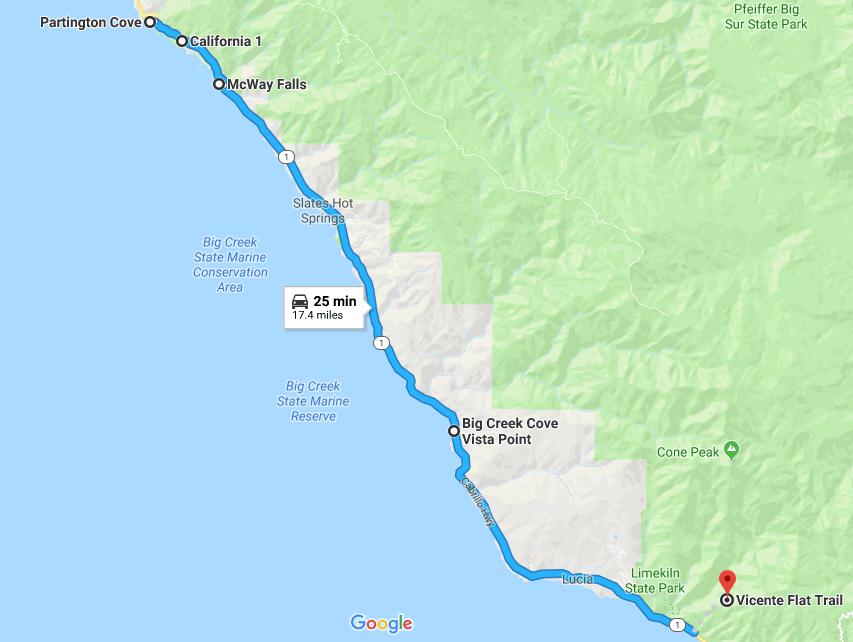 California Coast Road Trip: Highway 1   Limekiln state ...