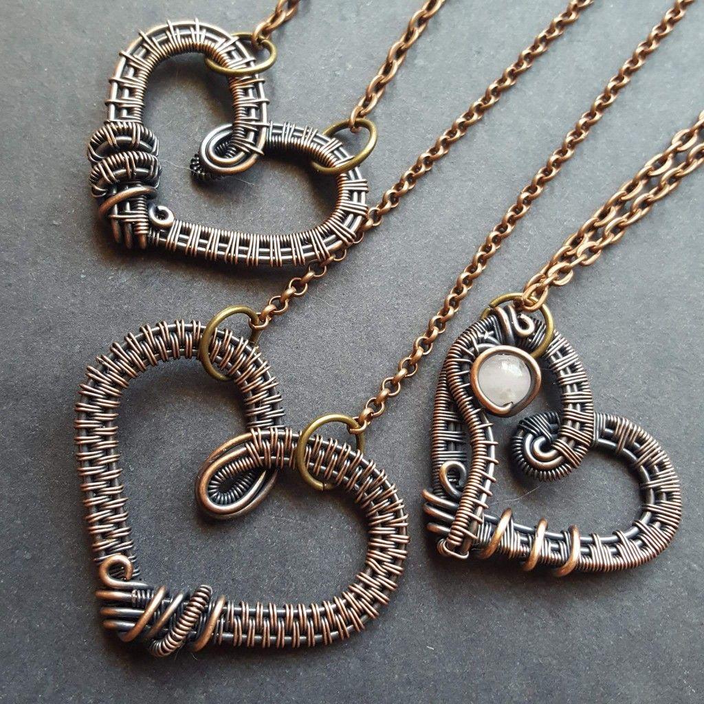 Heart pendants | Wire Jewelry - Pendants & Necklaces | Pinterest ...