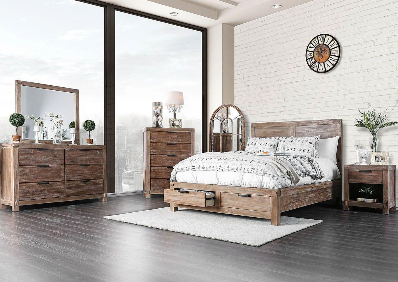 Wynton Eastern King Bed King storage bed, Furniture