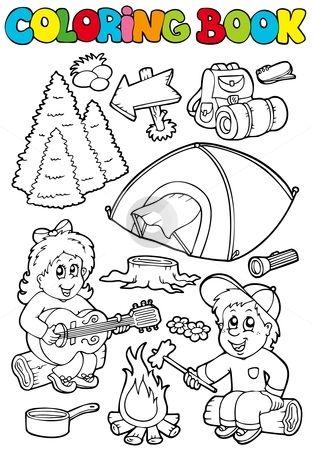 Camping Coloring Page Coloreamos Dibujos Para Colorear