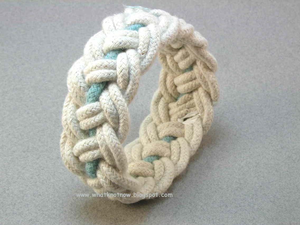 Turks Head Knot Bracelets And Contemporary Fiber Bracelets