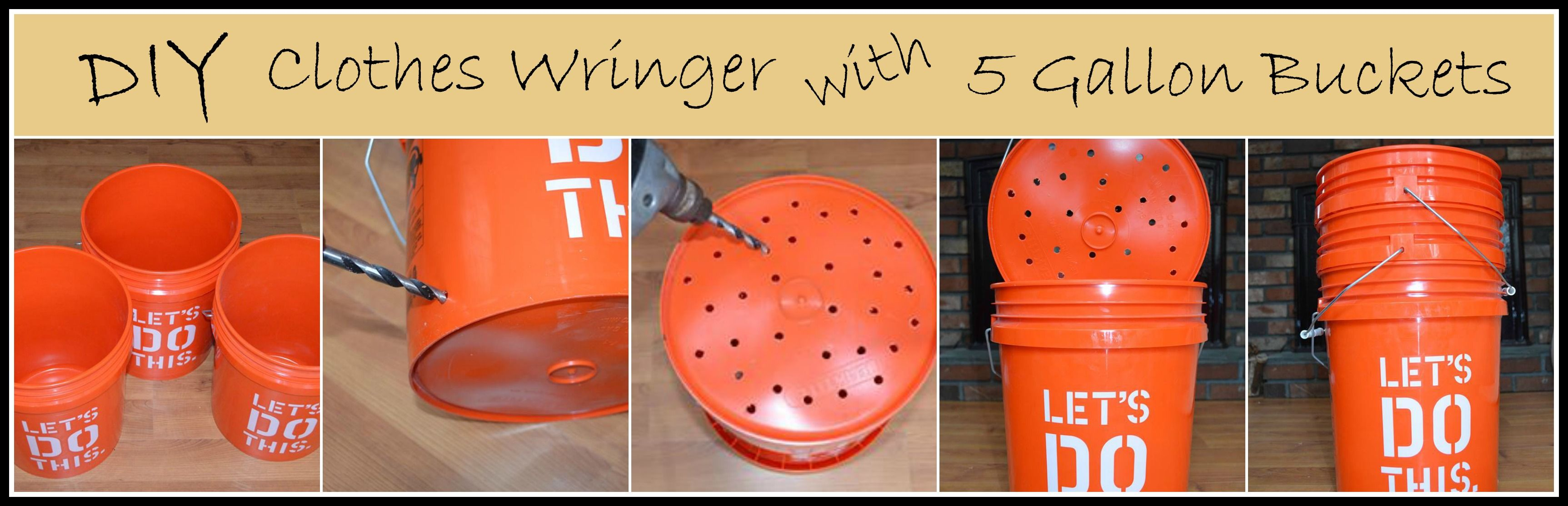 Diy Clothes Wringer To Go With The Bucket Washer