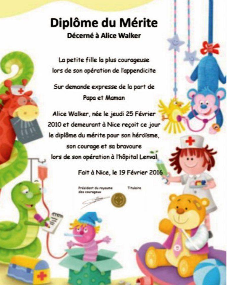 Cadeau Enfant Original Certificat Du M Rite Personnalis Cadeau Enfant Diplome Carte