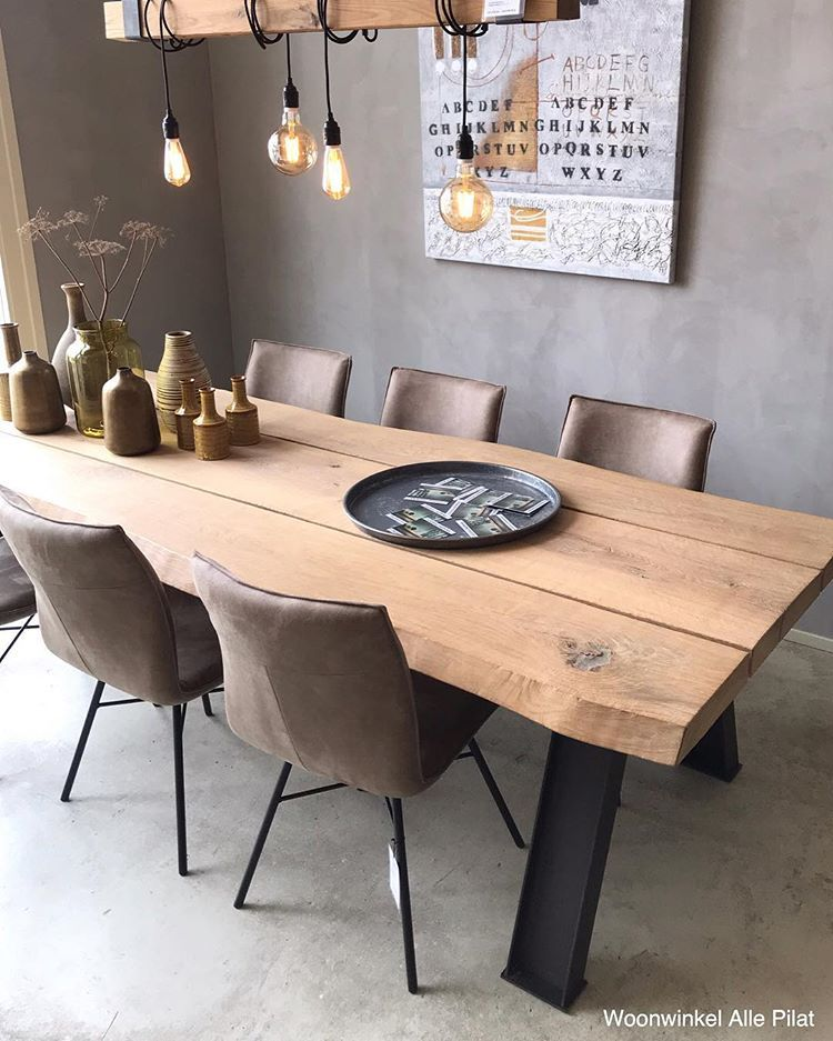 Woonwinkel Alle Pilat Op Instagram In The Spotlights Tafel Beam En Stoelen Esra Deze Stoere Living Dining Room Living Room Decor Cozy Modern Dinning Table