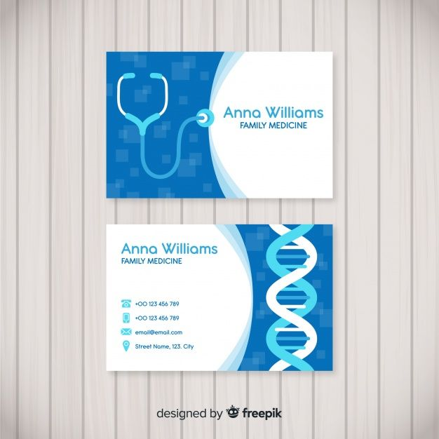 Download Modern Business Card With Medical Concept For Free In 2020 Medical Business Card Design Modern Business Cards Business Cards Creative