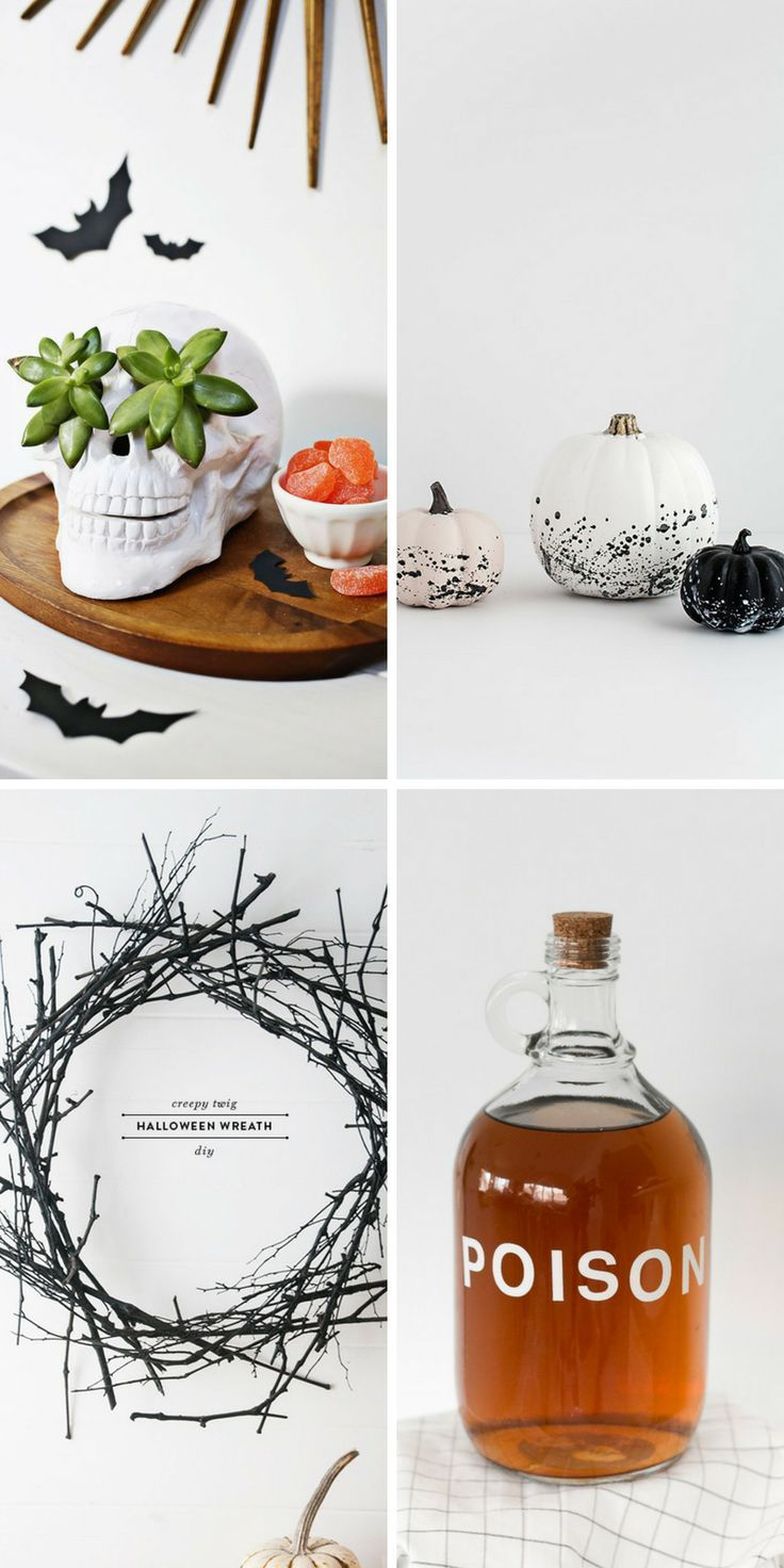 13 Minimal Halloween Decor Ideas to Make Your Home Scary Beautiful - Halloween Decoration Ideas Pinterest