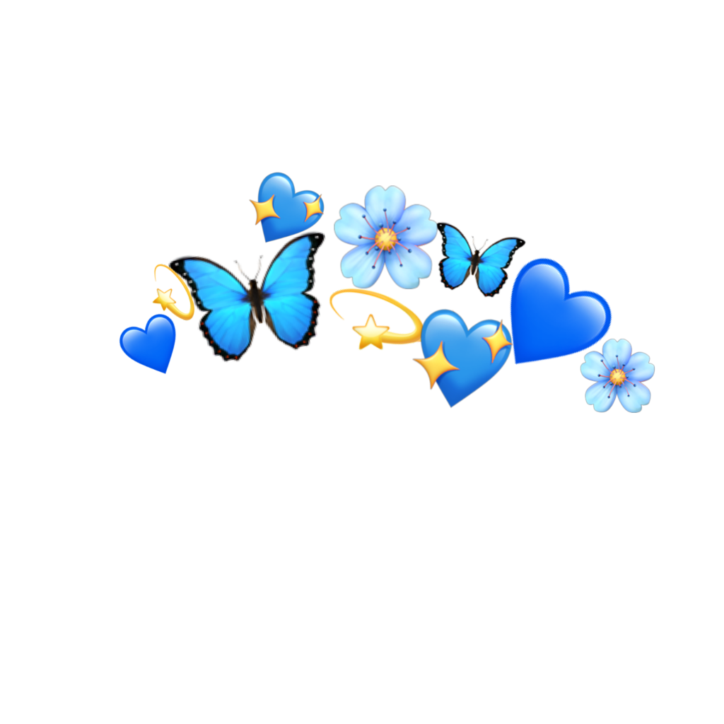 Blue Crown Emojis Sticker By Dexhornet Stuff To