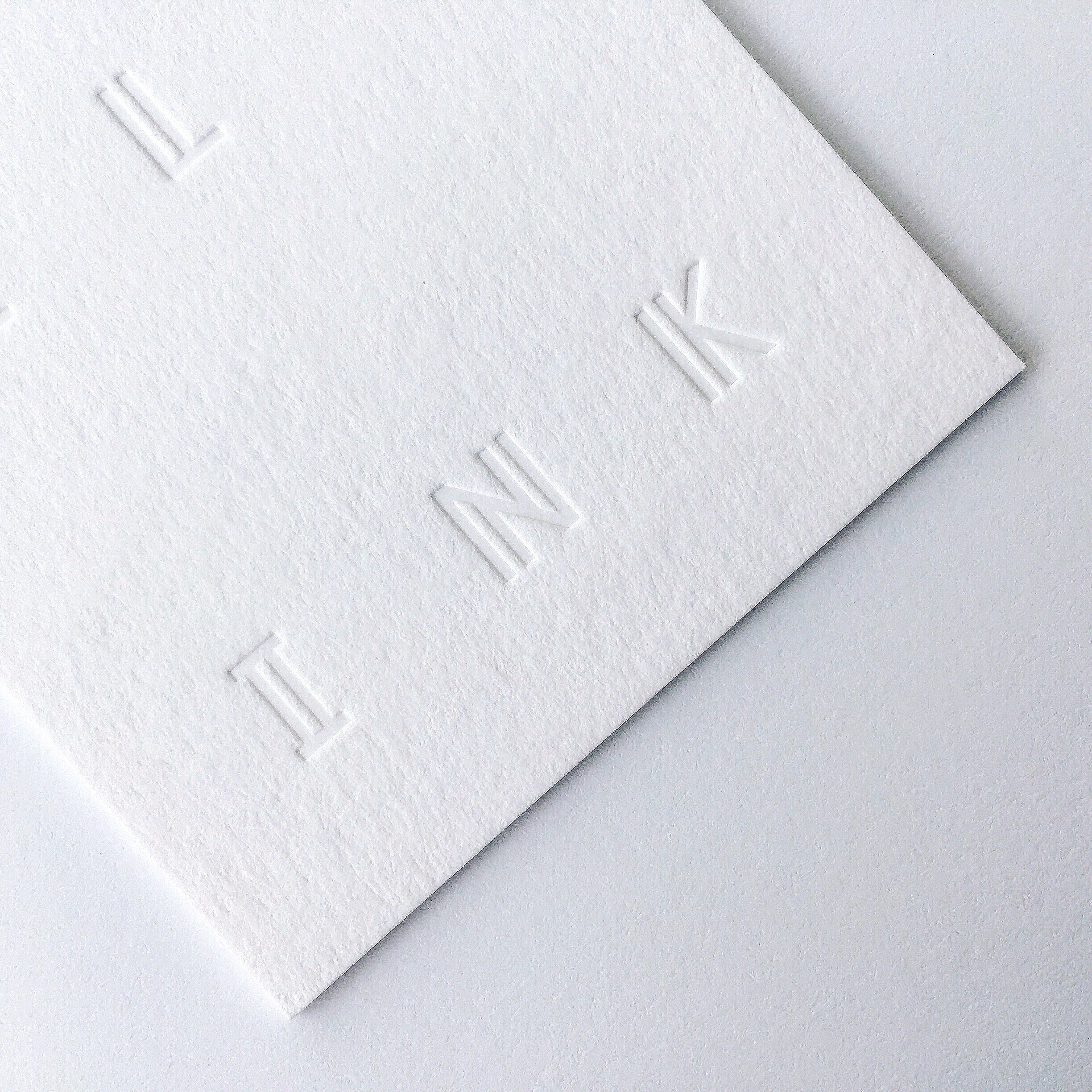 Blind debossing Business cards Printed by Dot Studio   cover ...