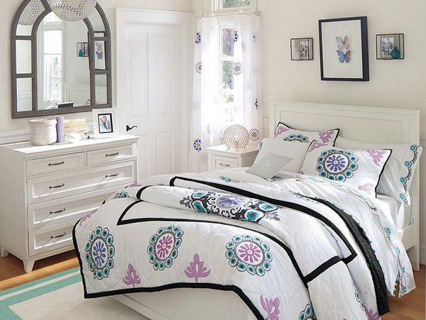 Contemporary White Bedroom Furniture With Bed Linen Design