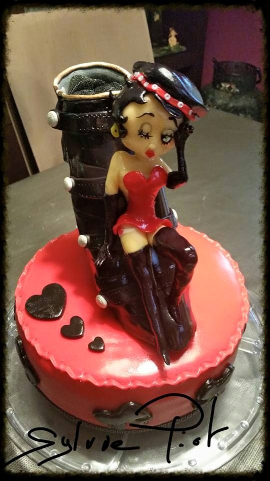 "cake design "" betty boop "" figurine en pate a sucre sugar by sylvie"