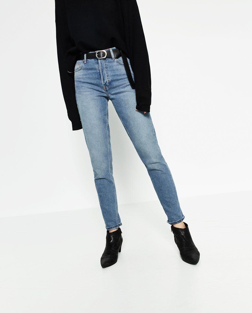 image 2 de jean taille haute droit de zara bottoms pinterest jeans jean taille haute et. Black Bedroom Furniture Sets. Home Design Ideas